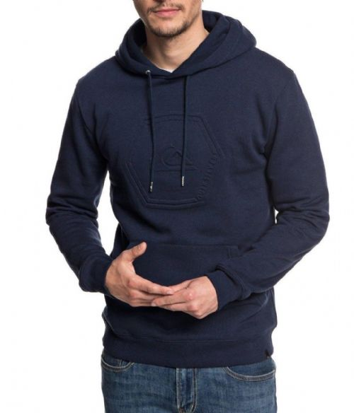 QUIKSILVER MENS HOODY.SWELL EMBOSS NAVY BLUE FLEECE HOODED HOODIE TOP 8W 77 BYJO
